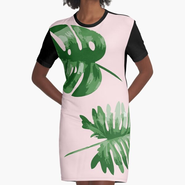 Monstera T-Shirt Kleid