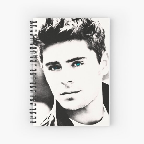Zac Efron Spiral Notebook