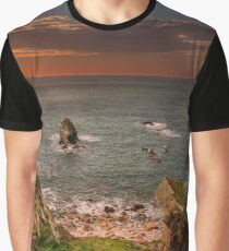 Rhoscolyn Sunset Bay Graphic T-Shirt