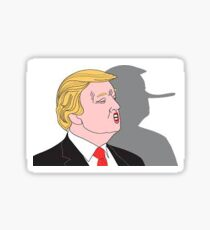 lying donald Sticker