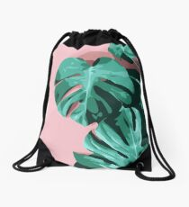 Monstera  Drawstring Bag