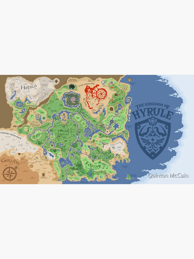 Breath of the Wild Hyrule Map by quintonmccain