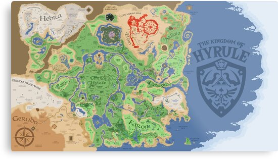 Breath of the Wild Hyrule Map by Quinton McCain