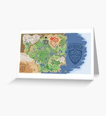 Breath of the Wild Hyrule Map Greeting Card