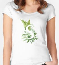 Floral letter S Fitted Scoop T-Shirt