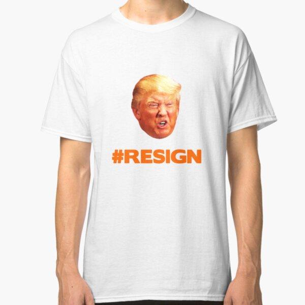 Orange Trump Face #Trumpresign Classic T-Shirt