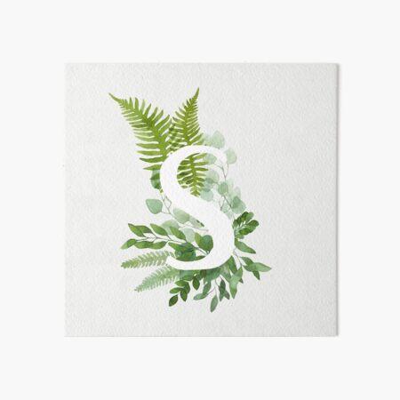 Floral letter S Art Board Print