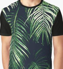 Tropical Palm Leaves Graphic T-Shirt