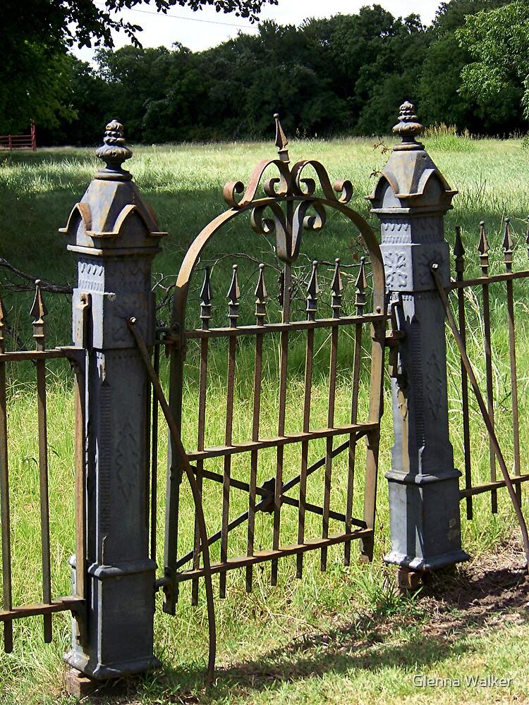 Bethel Cemetery Gate by Glenna Walker