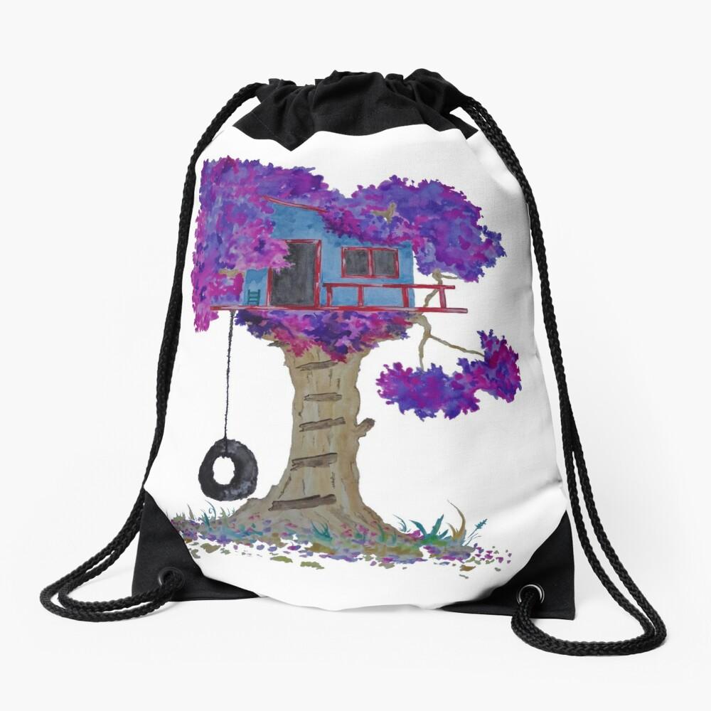 Treehouse I Drawstring Bag