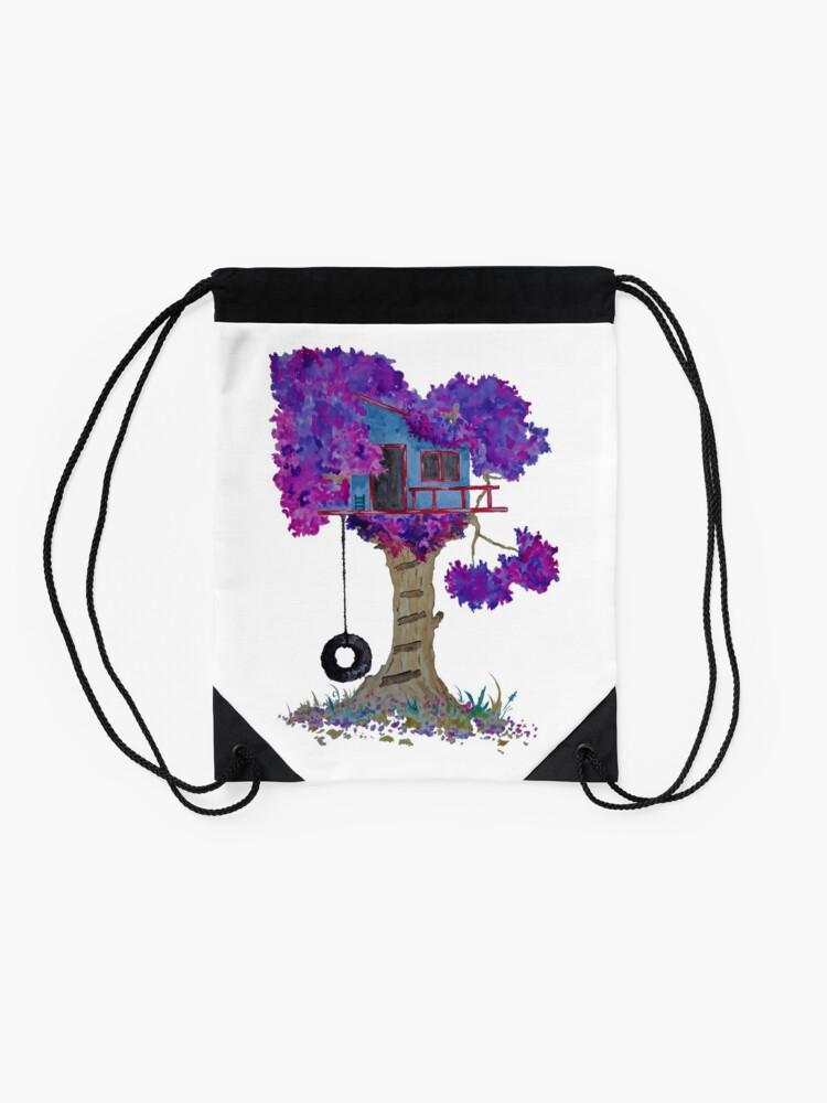 Alternate view of Treehouse I Drawstring Bag