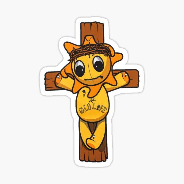 Glo cross glogangworldwide  Sticker