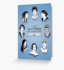 Great Women of Literature Greeting Card