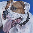 American Bulldog Fine Art Painting by lashepard