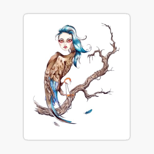In The Eerie Trees Sticker