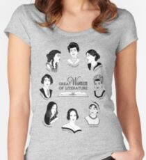 Great Women of Literature Women's Fitted Scoop T-Shirt