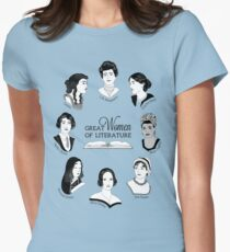 Great Women of Literature Women's Fitted T-Shirt