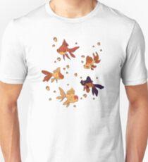 Purple Goldfish Pattern T-Shirt