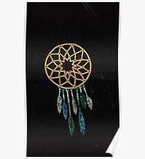 simple dream catcher black Poster