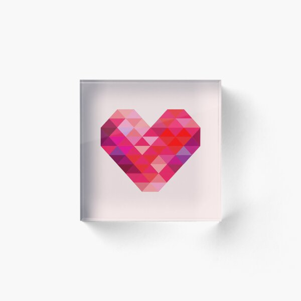 Prism Heart Acrylic Block