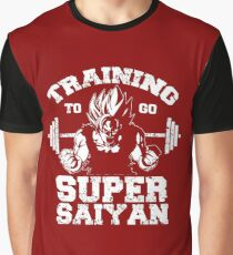 Anime - Training to go SSJ Graphic T-Shirt