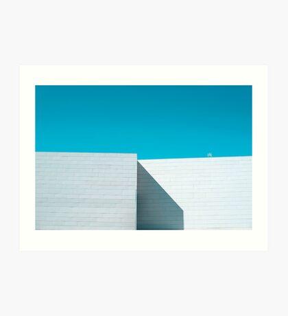 Weißes Gebäude Kunstdruck