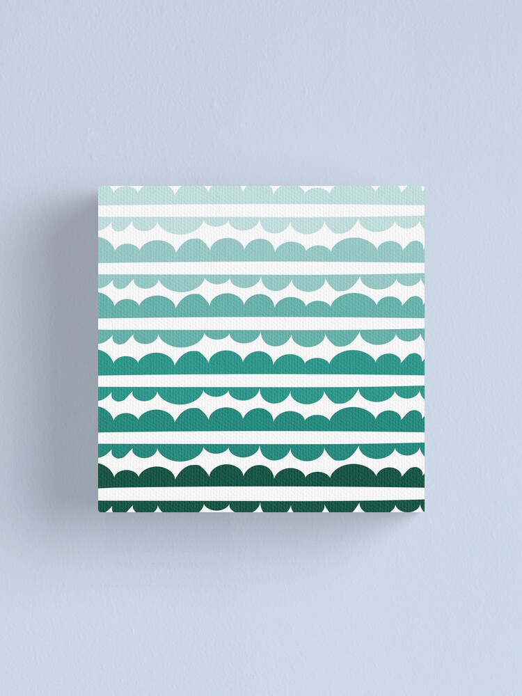 Alternate view of Mordidas Gradient Green Canvas Print