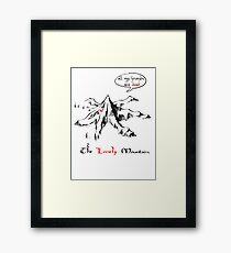 The really lonely mountain Framed Print