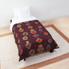 Mexican Sacred Hearts Comforter