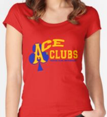 Ace o' Clubs Metropolis Rec League Softball T Women's Fitted Scoop T-Shirt