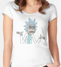 Trippy Rick Women's Fitted Scoop T-Shirt