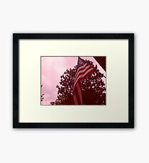 American flag from a childs view Framed Print
