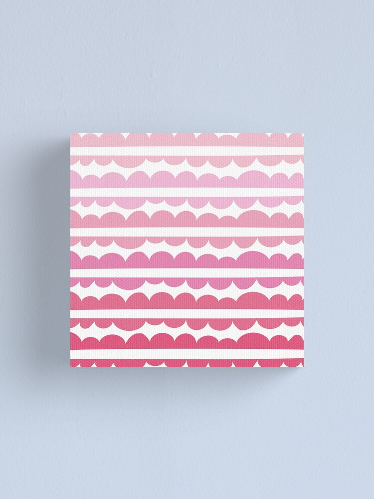 Alternate view of Mordidas Gradient Pink  Canvas Print