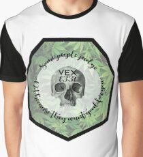 Vexl33t Quote Skull Graphic T-Shirt