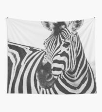 The Thoughtful Zebra Wall Tapestry