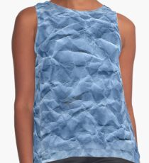Texture of crumpled craft paper Contrast Tank