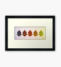 Colour Leaves Framed Print