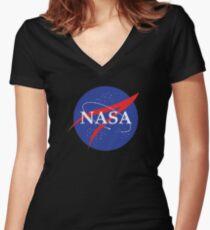 NASA Shirt mit V-Ausschnitt