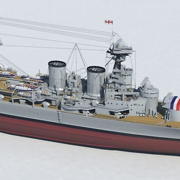HMS Hood 1937 - Bow To Stern Technical by chrissnook