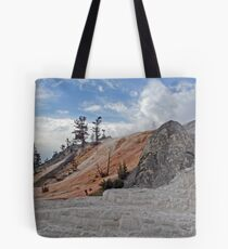 Mammoth Hot Springs and the Devil's Thumb Tote Bag