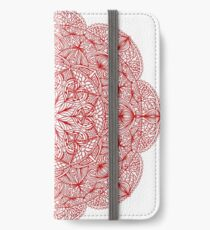 Red lace mandala iPhone Wallet/Case/Skin