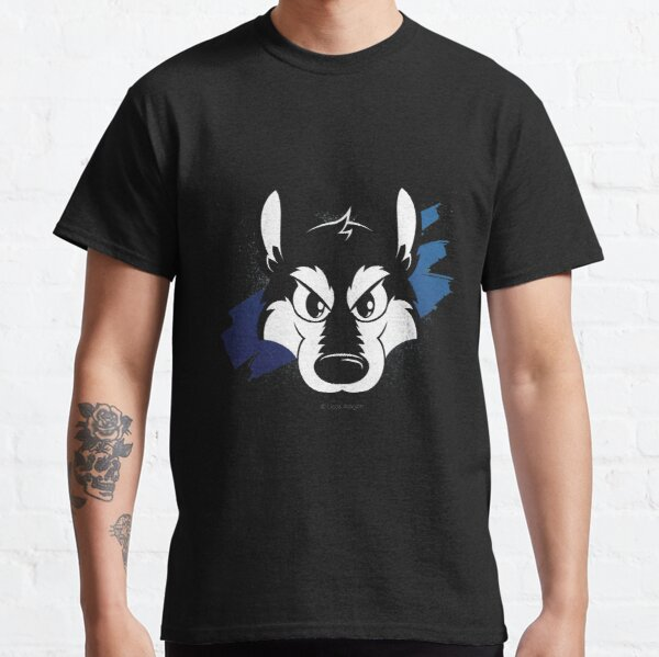 Toon wolf face (blue) Classic T-Shirt