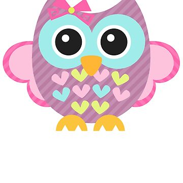 Funny Colorful owl - Bird Pink  by Igorgomes