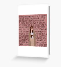 "Les Mis ""On My Own"" Greeting Card"