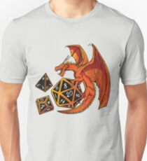 The Dice Dragon - D20, D4, D10, Dungeons & Dragons T-Shirt