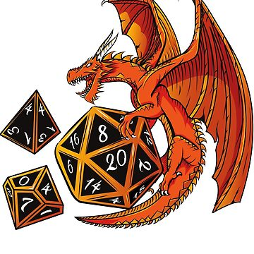 The Dice Dragon - D20, D4, D10, Dungeons & Dragons by Nocturnalcultur