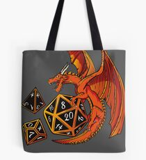 The Dice Dragon - D20, D4, D10, Dungeons & Dragons Tote Bag
