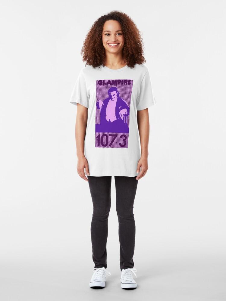 Alternate view of Horror Pop Art - Glampire Slim Fit T-Shirt