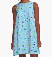 cute bikinis blue  A-Line Dress