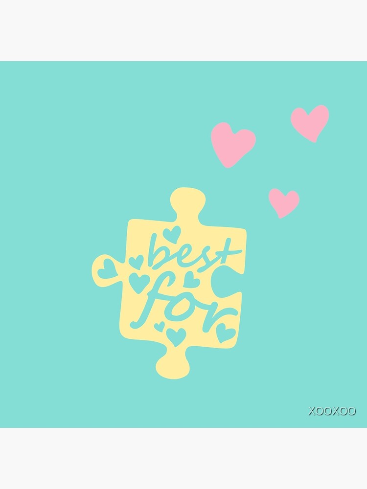 Pastel Best Friends Forever Connection Puzzle (left) by XOOXOO